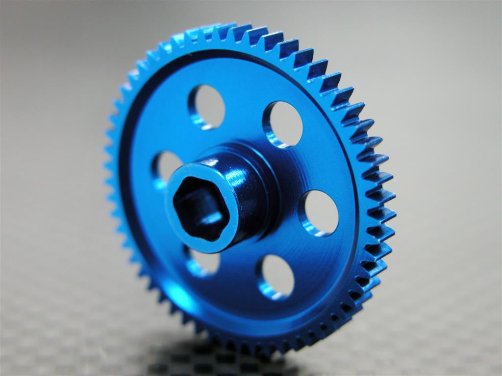 Team Associated RC18T Aluminum Main Gear (55T) - 1Pc Blue
