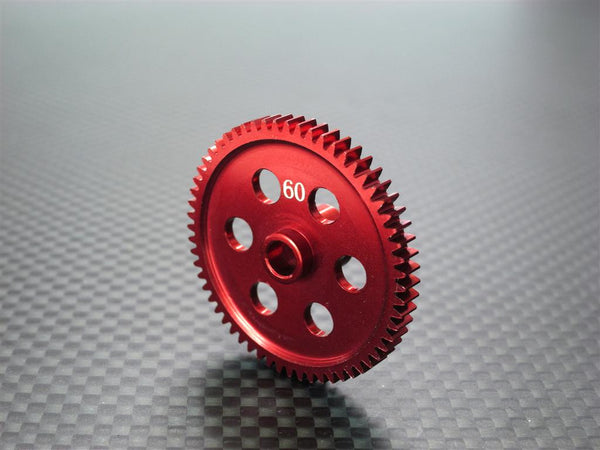 Team Associated RC18T Aluminum Main Gear (60T) - 1Pc Red