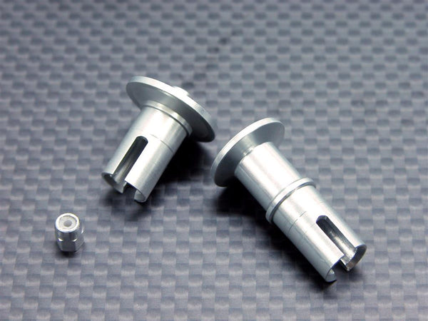 Team Associated RC18T Aluminum Front/Rear Ball Differential Joint With Lock Nut - 2 Pcs Set Silver