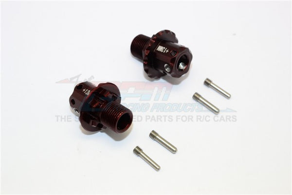 Aluminum 13mm Hex Adapters For ARRMA TYPHON / TALION / KRATON / SENTON - 1Pr Set Brown