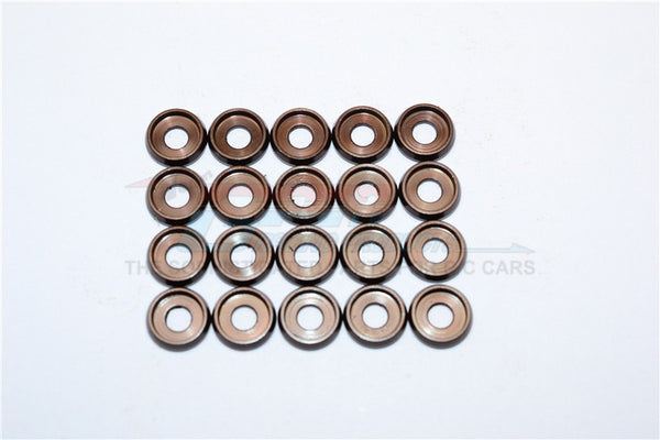 Spring Steel (ID:3.0mm Ring, OD:8.0mm, Thick:0.6mm) Button Flanged Washer - 20Pcs Set Original Color