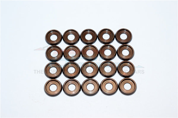 Spring Steel (ID:4.0mm Ring, OD:10.0mm, Thick:0.6mm) Button Head Flanged Washer - 20Pcs Set Original Color