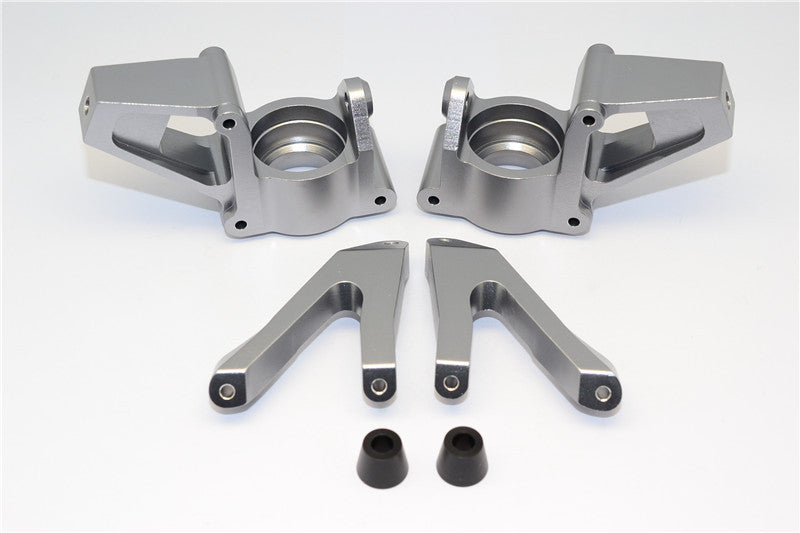 HPI Baja 5B RTR, 5B SS, 5T Aluminum Front Knuckle Arm - 1Pr Gray Silver