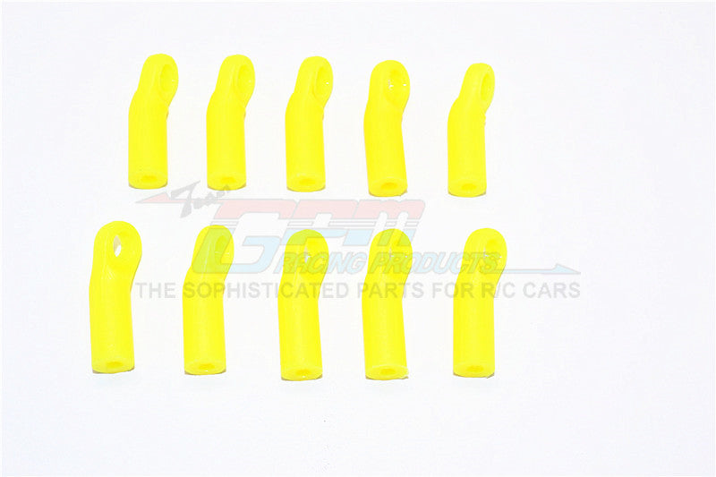 Nylon 4mm Clockwise And Anticlockwise Ball Links Of 24mm Long (Count From Middle Of The Hole And Use With 5.8mm Balls) - 10Pcs Yellow