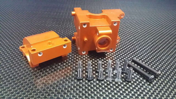 HPI Bullet Nitro 3.0 Aluminum Front/Rear Gear Box - 1 Set Orange