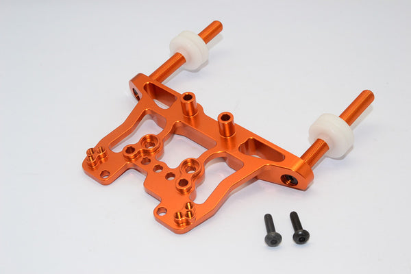 HPI Bullet 3.0 Nitro & Bullet Flux Aluminum Front/Rear Damper Mount With Body Posts - 1Set Orange