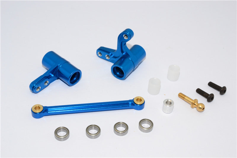 HPI Bullet 3.0 Nitro Aluminum Steering Assembly With Bearings - 3Pcs Set Blue