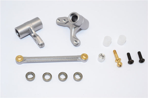 HPI Bullet 3.0 Nitro Aluminum Steering Assembly With Bearings - 3Pcs Set Gray Silver