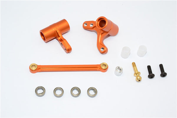 HPI Bullet 3.0 Nitro Aluminum Steering Assembly With Bearings - 3Pcs Set Orange