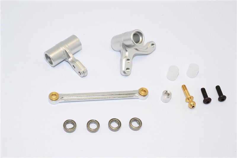 HPI Bullet 3.0 Nitro Aluminum Steering Assembly With Bearings - 3Pcs Set Silver