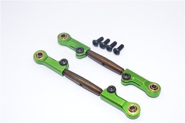 HPI Bullet Nitro 3.0 Spring Steel Front Adjustable Tie Rod With Aluminum Ends (4mm Anti Cross-Thread, To Extend 73mm-80mm) - 1Pr Set Green
