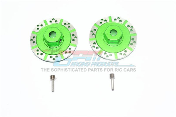 Losi 1/10 Baja Rey 4WD Desert Truck (LOS03008) Aluminum +1.5mm Hex With Brake Disk With Silver Lining - 1Pr Set Green
