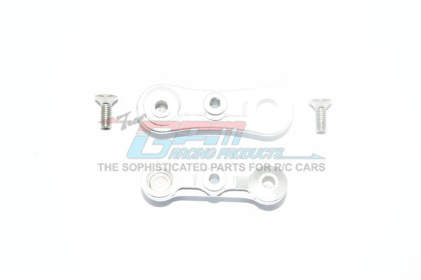 Losi 1:10 Baja Rey / Rock Rey Aluminum Stabilizing Mount For Steering Assembly - 1Pr Set Silver