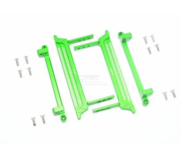Tamiya CC01 Aluminum Side Steps (Reticulated Pattern) - 16Pc Set Green