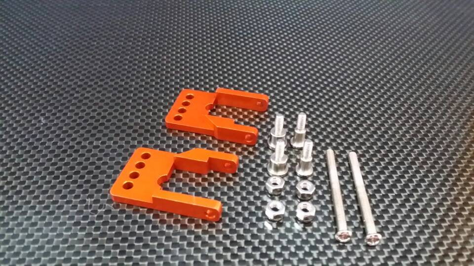 Tamiya CC01 Aluminum Rear Damper Mount - 1Set Orange