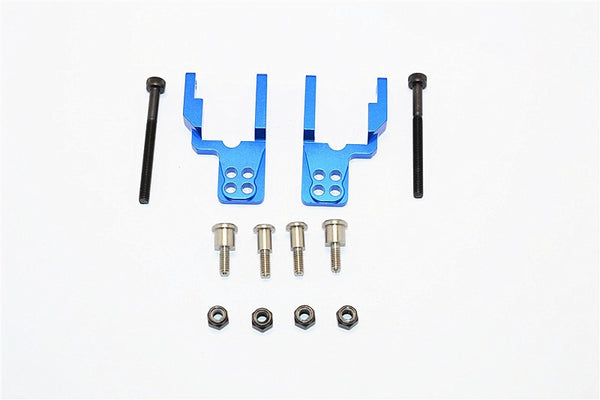 Tamiya CC01 Aluminum Rear Damper Mount With Mulitple Holes - 1 Set Blue