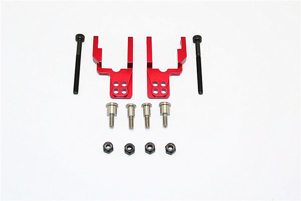 Tamiya CC01 Aluminum Rear Damper Mount With Mulitple Holes - 1 Set Red