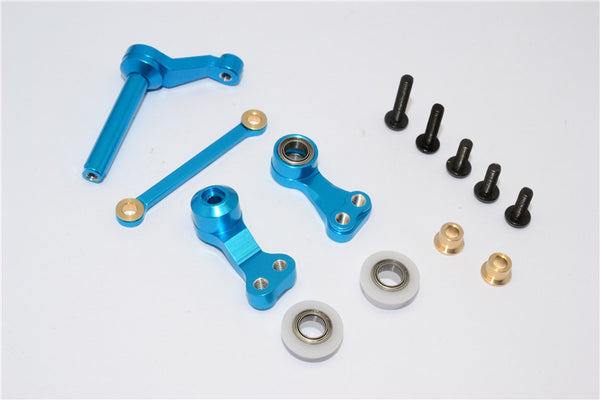 Tamiya CC01 Aluminum Steering Assembly - 1 Set Sky Blue