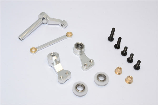 Tamiya CC01 Aluminum Steering Assembly - 1Set Silver