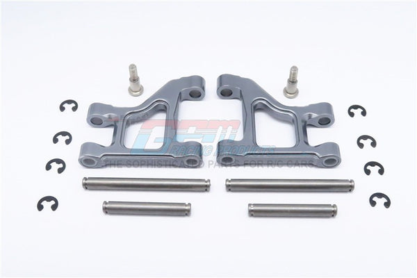 Tamiya CC01 Aluminum Front Lower Suspension Arm - 1Pr Gray Silver