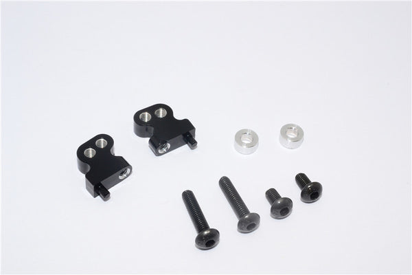 Tamiya CC01 Aluminum Adjustable Mount Use For Front Damper - 2Pcs Set Black