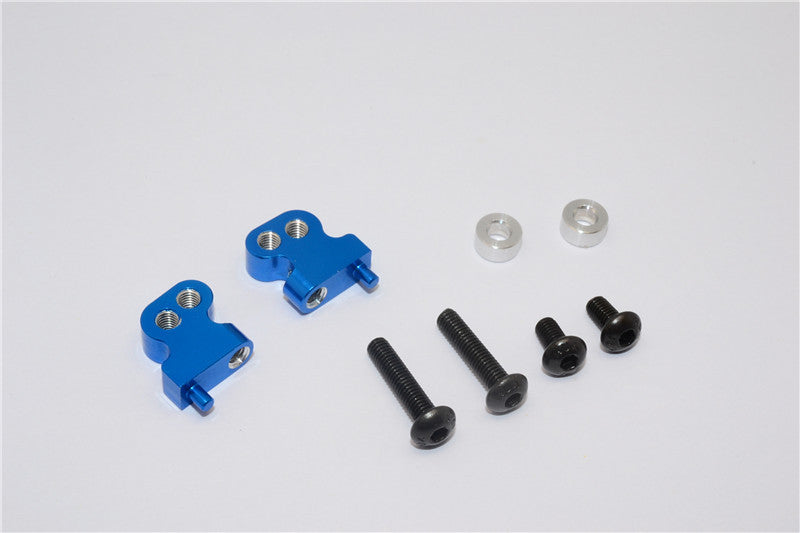 Tamiya CC01 Aluminum Adjustable Mount Use For Front Damper - 2Pcs Set Blue