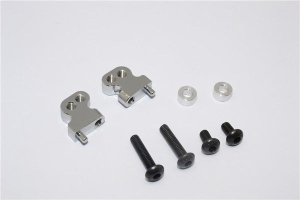 Tamiya CC01 Aluminum Adjustable Mount Use For Front Damper - 2Pc Set Gray Silver