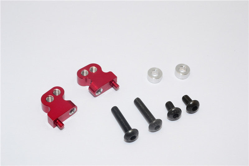 Tamiya CC01 Aluminum Adjustable Mount Use For Front Damper - 2Pcs Set Red