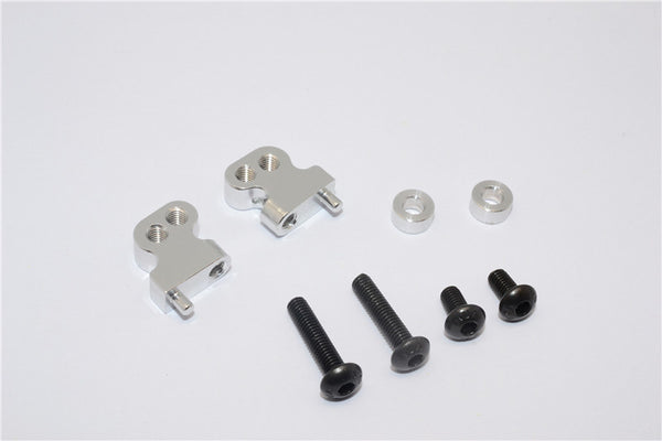Tamiya CC01 Aluminum Adjustable Mount Use For Front Damper - 2Pcs Set Silver