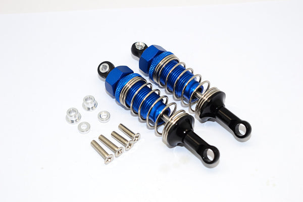 Tamiya CC01 Nylon Rear Ball Top Damper (70mm) With Alloy Body & Ball Ends - 1Pr Set Blue