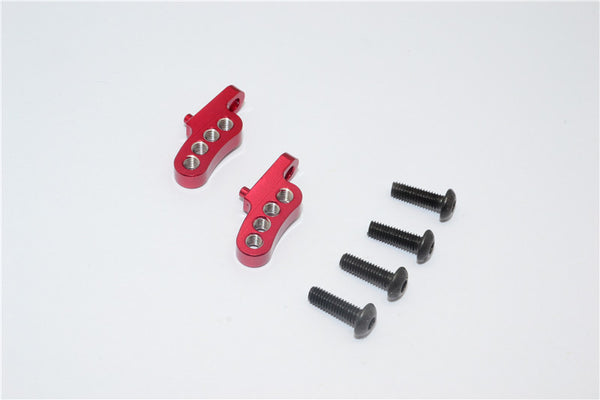 Tamiya CC01 Aluminum Adjustable Mount Use For Rear Damper - 2Pcs Set Red
