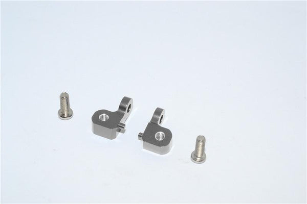 Tamiya CC01 Aluminum Mount Use For Rear Damper - 2Pcs Set Gray Silver