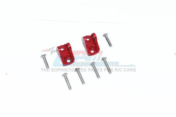 Tamiya Mercedes-Benz G500 CC-02 (#58675) Aluminum Front Or Rear Upper Axle Mount Set For Suspension Links - 2Pc Set Red