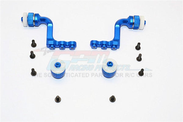 Tamiya CC01 Aluminum Front+Rear Magnet Body Mount For CC01 Mitsubishi Pajero - 1 Set Blue