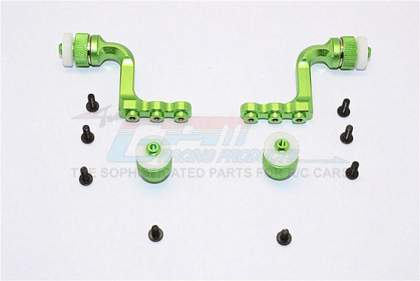 Tamiya CC01 Aluminum Front+Rear Magnet Body Mount For CC01 Mitsubishi Pajero - 1 Set Green