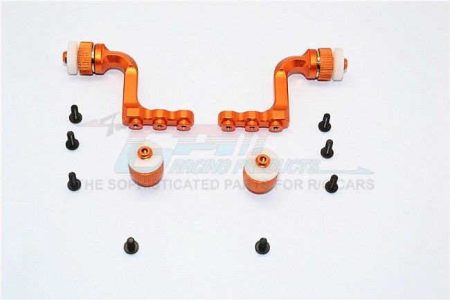 Tamiya CC01 Aluminum Front+Rear Magnet Body Mount For CC01 Mitsubishi Pajero - 1 Set Orange