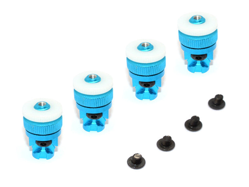 Tamiya CC01 Aluminum Front+Rear Magnet Body Mount For CC01 Unimog - 1 Set Sky Blue