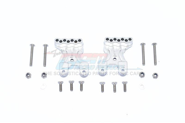 Tamiya Mercedes-Benz G500 CC-02 (#58675) Aluminum Front Shock Mount - 2Pc Set Silver