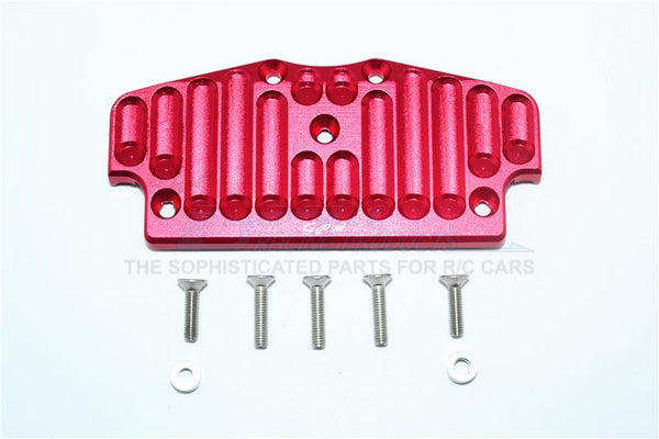 Tamiya CC01 Aluminum Front Bumper Mount - 1Pc Set Red