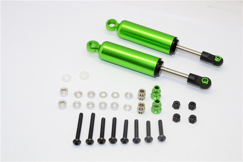 HPI Crawler King / Gmade R1 / Vaterra K5 Aluminum Front/Rear Internal Shocks 90mm - 2pcs Set Green