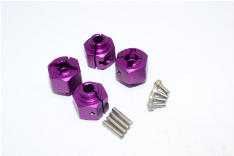 HPI Crawler King Aluminum Hex Adapter (12X8mm) - 4Pcs Set Purple