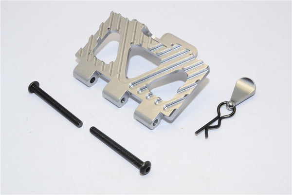 HPI Crawler King Aluminum Battery Holder Front Mount - 1Pc Set Gray Silver