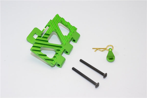 HPI Crawler King Aluminum Battery Holder Front Mount - 1Pc Set Green