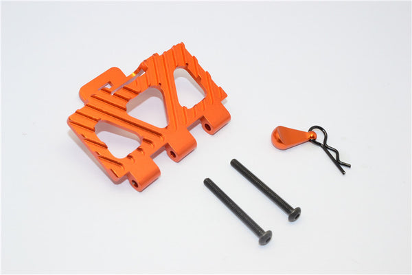 HPI Crawler King Aluminum Battery Holder Front Mount - 1Pc Set Orange