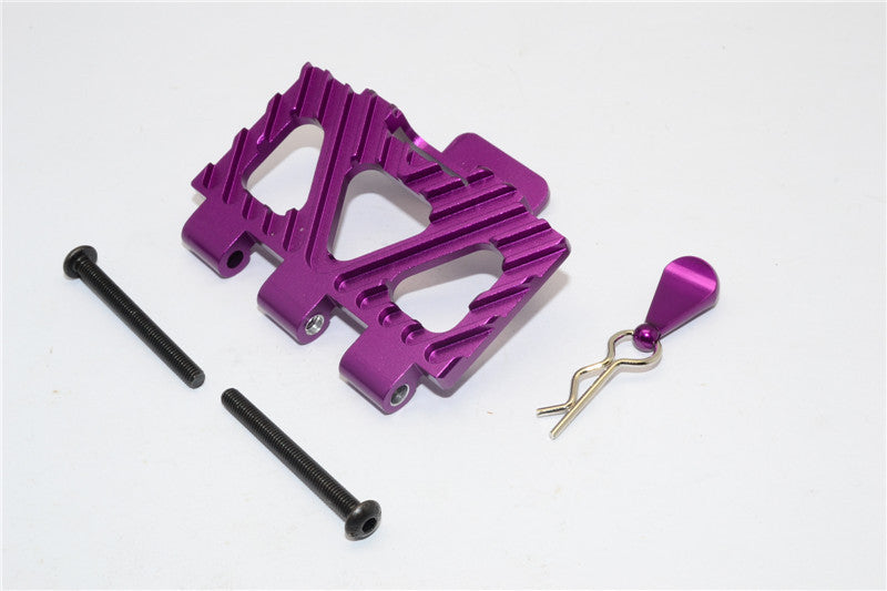 HPI Crawler King Aluminum Battery Holder Front Mount - 1Pc Set Purple