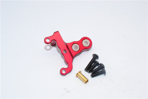HPI Crawler King Aluminum Front/Rear Gearbox Mount - 1Pc Set Red
