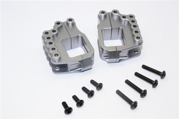 HPI Crawler King Aluminum High Link Bracket - 4 Pcs Set Gray Silver