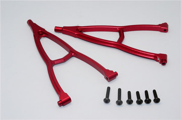 HPI Crawler King Aluminum Front+Rear Y Plate (For 295mm Wheelbase) - 2Pcs Set Red