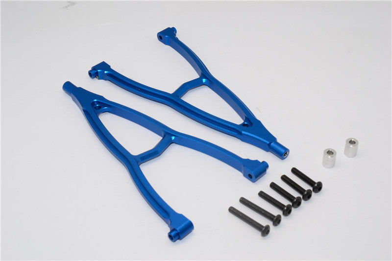 HPI Crawler King Aluminum Front+Rear Y Plate (For 310mm Wheelbase) - 2Pcs Set Blue