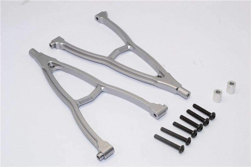 HPI Crawler King Aluminum Front+Rear Y Plate (For 310mm Wheelbase) - 2Pcs Set Gray Silver